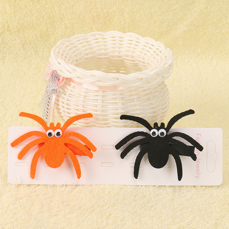 Halloween Tricky Hair Clips Baby Girls Terror Spider Barrette Children Party Funny Hair Accessories Kids Cute Hairpins 2019 New