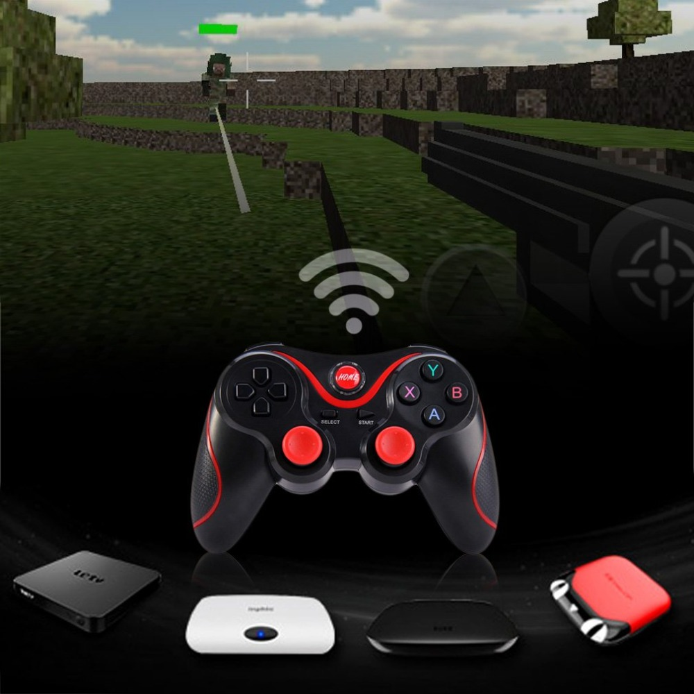 Lightweight Wireless Bluetooth V3 0 Gamepad Dual Analog Joystick Gaming Controller Suitable for Android Smartphones Tablets in Gamepads from Consumer Electronics