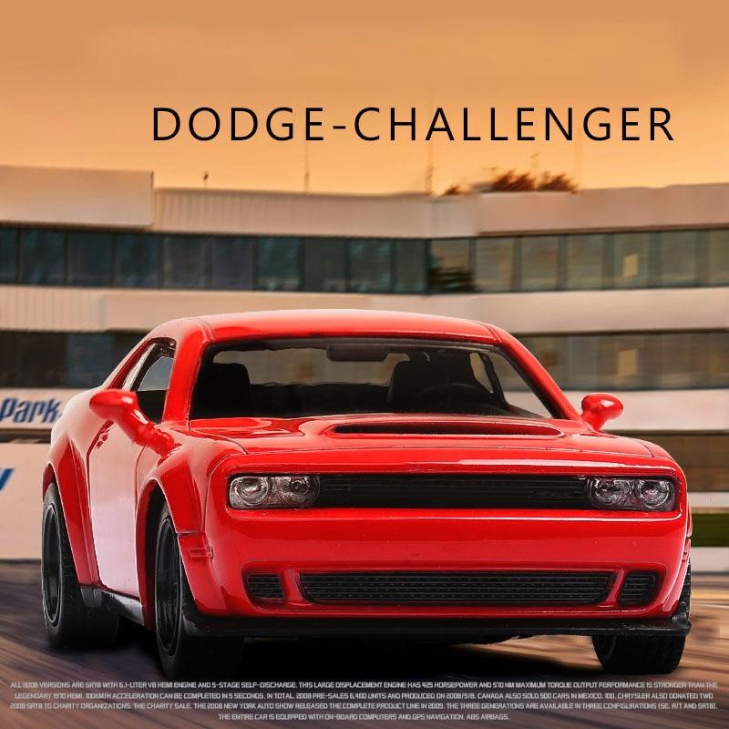 RMZ CITY, модель автомобиля 1:36 Dodge Challenger, спортивный демон, литый под давлением автомобиль из сплава, игрушка с откидной спинкой для детей, подарки, коллекция игрушек|Наземный транспорт|   | АлиЭкспресс