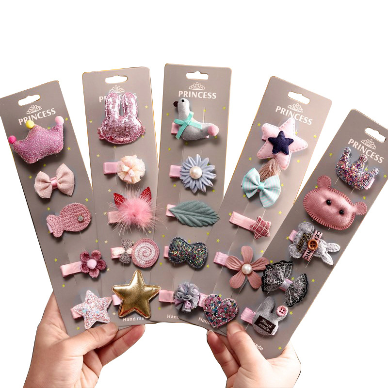 1Set Luxury Princess Children's Series Girls Set Hair Accessories Sweet Cloth Art Ponytail Hair Pins Hair Grips HeadWear