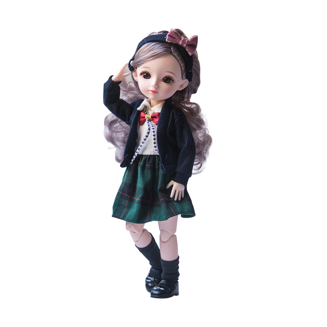 New 1/6 12 Inch 31cm Bjd Doll 23 Joints Long Wig Plastic Toys Musical Doll Girls Children's Favorite Fashion Birthday Presents 5