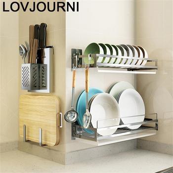 Organizador De accesorios para platos Cosinha, Organizador De acero inoxidable, Cocina, estante...