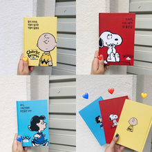 Hard Cartoon Cover Snoopys Comic Pattern 100 Page Blank Notebook Student Sketchbook Travel Diary Stationery School Supplies cartoon hard surface small note handwritten sketch white page elementary school student learning supplies stationery