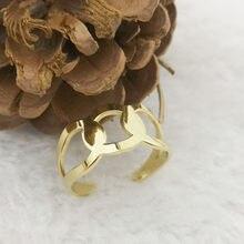 Bague en acier inoxydable pour femmes, bijoux de luxe, couleur or, Style classique, à la mode, Roxi, offre spéciale