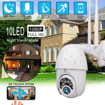1080P WIFI IP PTZ 2MP Camera Dome Outdoor Waterproof Security Speed Camera with 32G SD Card Wireless IP Camera Remote View owlcat hi3518e sony323 outdoor waterproof wireless bullet ip camera wifi hd 1080p 2mp with audio microphone ir infrared sd card