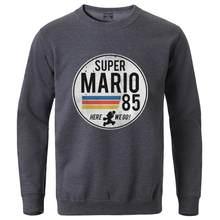 Мужские флисовые толстовки Super Mario 85, пуловер в стиле хип-хоп с длинным рукавом, спортивная одежда, топ для тренировок, Осень-зима 2020