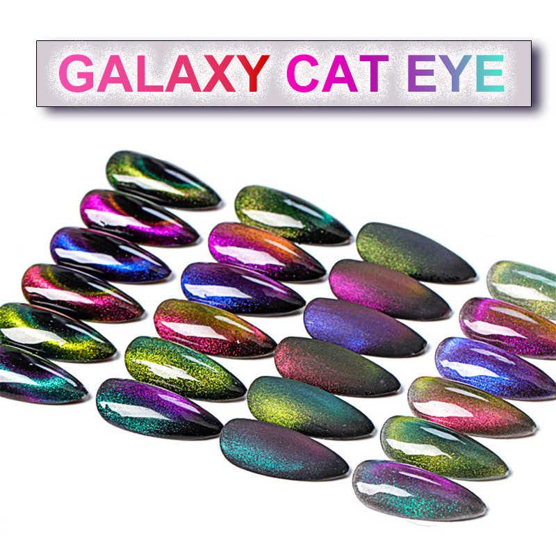 8ml Galaxy 9D Cat Eye Gel Nail Polish Soak Off LEVOU UV Nail Art Design Forte Efeito Verniz Camaleão magia Gel Lacas gellak