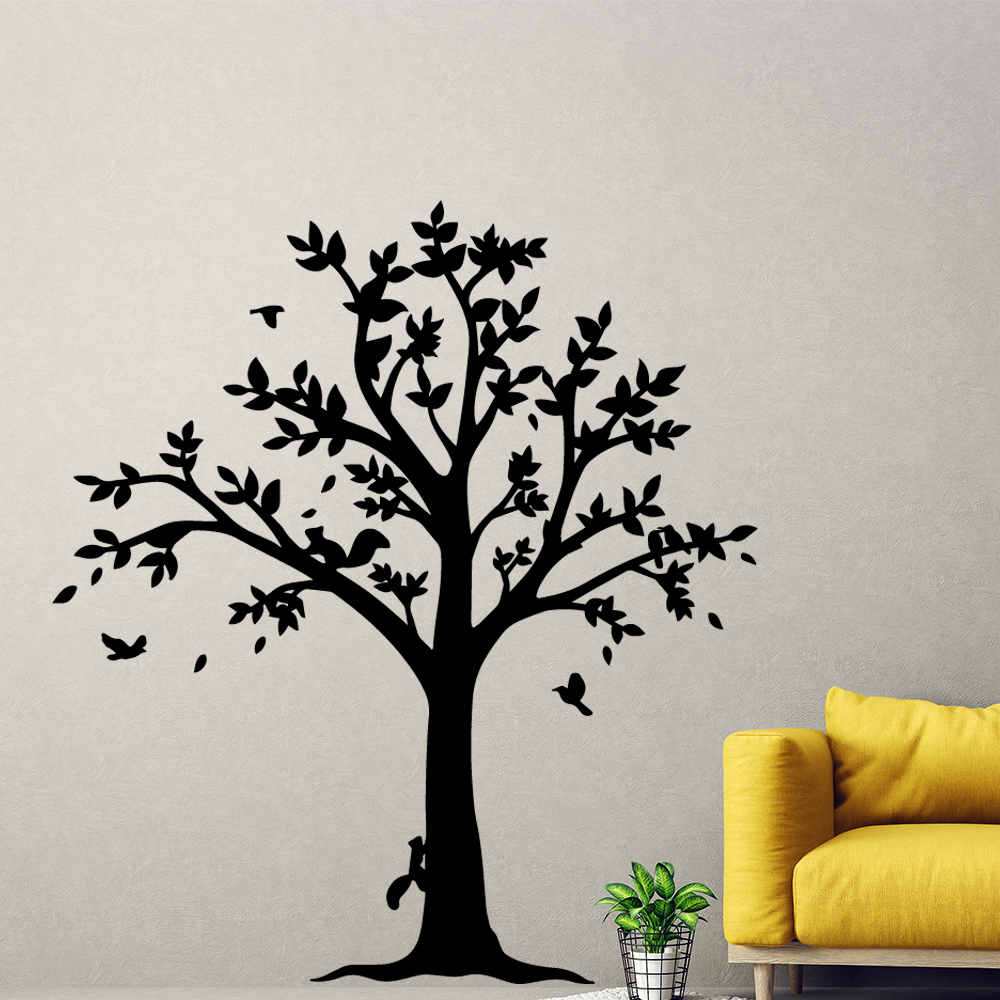 Pretty Tree Environmental Protection Vinyl Stickers For Kids Rooms Home Decor Removable Wall Decals