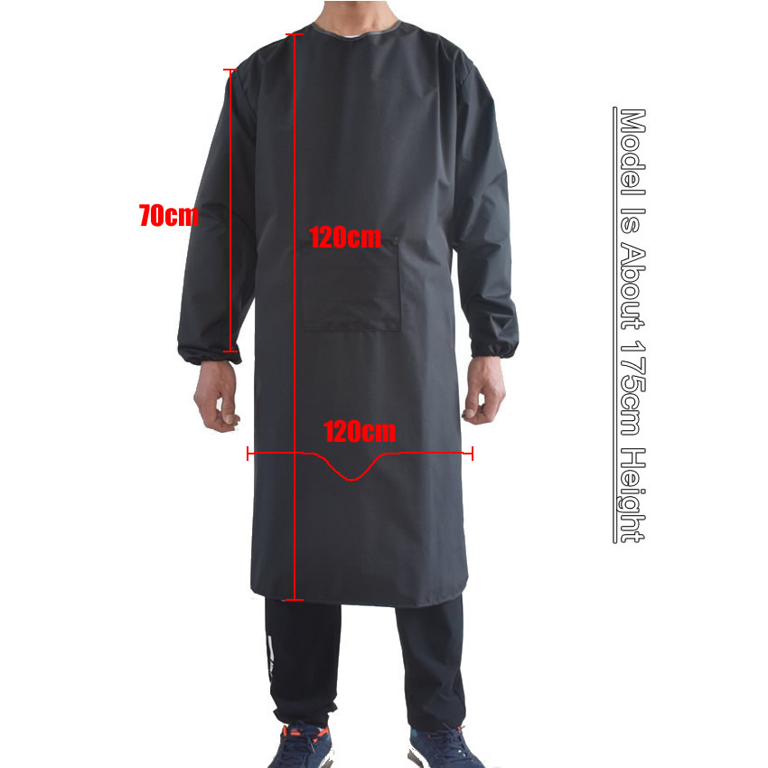 Waterproof Oil-Resistant Full Cover Apron Suit Butcher Fisher Unisex Work Safety Reusable Apron Coverall Kitchen House Clean
