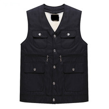 100% Mens Black Pure Wool Vest Thick & Warm Sheepskin Sleeveless Autumn and Winter Men's Casual Jacket Coat Chaleco Hombre