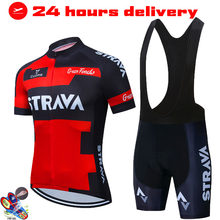 STRAVA Spain Cycling Sets Triathlon Bicycle Clothing Breathable Mountain Cycling Clothes Suits Ropa Ciclismo Verano Triathlon