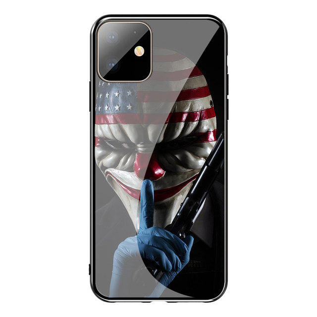 Payday 2 Game Tempered Glass Phone Case for Apple iPhone 11 Pro XS Max XR X 8 7 6S Plus 5S SE Cover