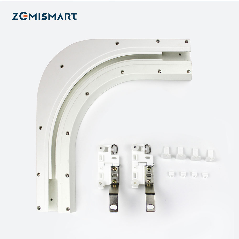 The Best Curtain and Blind Degree ARC Track for Corner Windows for Slide Curtain  90 135 Degree Avaibale|Home Automation Modules| |  - title=