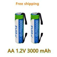 Nowy akumulator AA 1.2 V 3000mAh NiMH 14430 bateria z pinami lutowniczymi dla majsterkowiczów elektryczne szczoteczki do zębów zabawki
