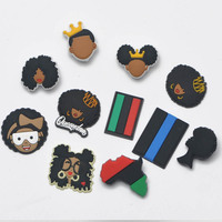 1pcs Shoe Charms PVC Croc JIBZ I Can Not Breathe Shoe Accessories Button Decoration for kids Party Xmas