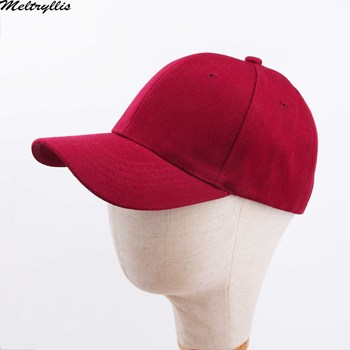 Solid Color Fashion Wine Red Baseball Cap  New Cotton young people hat for men women Adjustable Hip Hop Hat leucosticte fashion solid color wool snapback baseball cap new brand winter autum hip hop flat hat women drop shipping