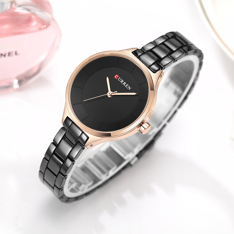CURREN Top Brand Fashion Ladies Watches Stainless Steel Band Quartz Female Wrist Watch Ladies Gifts Clock Relogio Feminino 6
