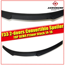 F33 2-doors Convertible tail Rear Spoiler Wing AEM4 Style  FRP Unpainted 4 series 420i 430i 430iGC 440i 2014-2018