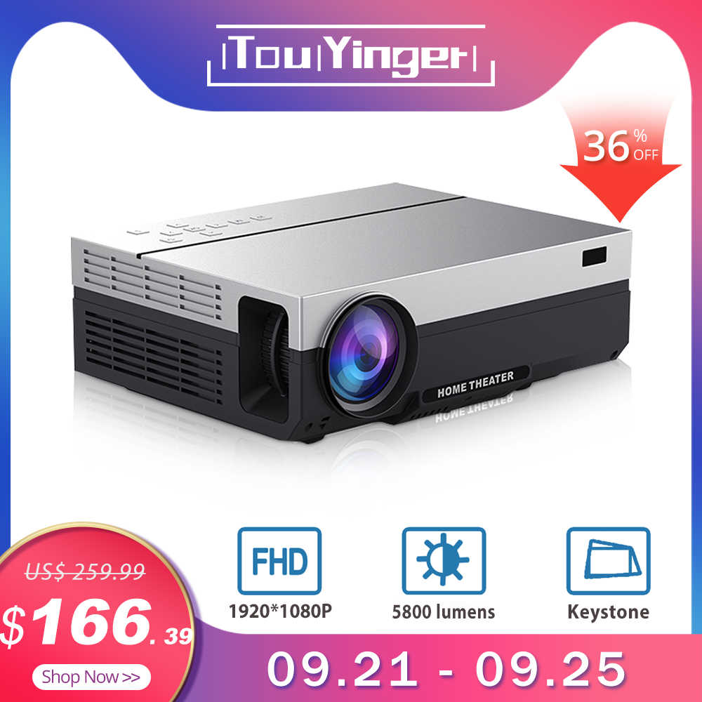 Touyinger T26L T26K 1080p LED full HD proyector de vídeo 5800 Lumen FHD 3D casa cine HDMI ( Android 9,0 wifi opcional)