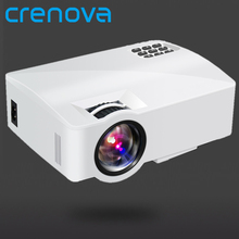 CRENOVA וידאו מקרן עם אנדרואיד 6.0 OS עבור טלפון חכם בית קולנוע סרט וידאו מקרן Bluetooth WIFI Beamer