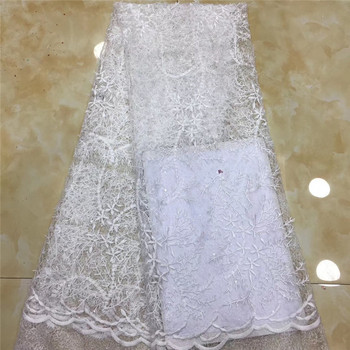 African Lace Fabric 2019 French Lace Fabric Embroidered Nigerian Tulle Lace Fabric  for Wedding H-122601