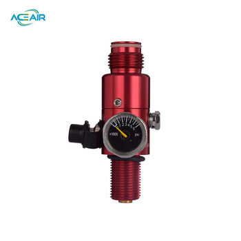 Paintball Equipment HPA Air Regulator 4500PSI Working Pressure 1800PSI Output M18x1.5 Red