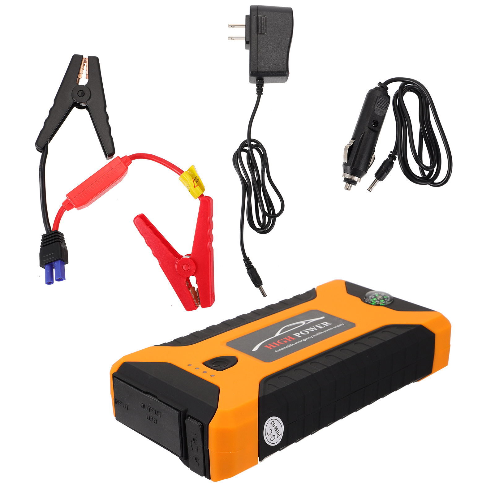 1 комплект, автомобильное зарядное устройство мА, внешний аккумулятор 12 В, зарядное устройство с вилкой Стандарта США