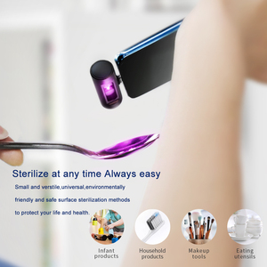 Image 3 - HOCO مصغر محمول UVC تطهير الأشعة فوق البنفسجية LED ضوء الهاتف المحمول واجهة USB التوصيل الطاقة المحمولة تعقيم UVC 270nm ل شاومي