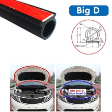 Car Door Seal Strip Big D Type Car Rubber Door Seal Strip Universal Noise Insulation Epdm Car Rubber Waterproof Rubber Seals