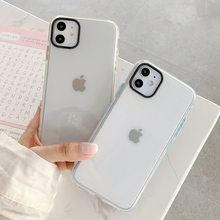 Clear Candy Color Bumper Silicone Phone Case For iPhone 11 Pro Max 7 8 Plus SE 2 X XR XS Max Fashion Shockproof Soft Cover Coque bumper case for iphone xs max xr x 10 8 7 6 se plus coque shockproof aluminum frame cover for iphonex protective border capinhas