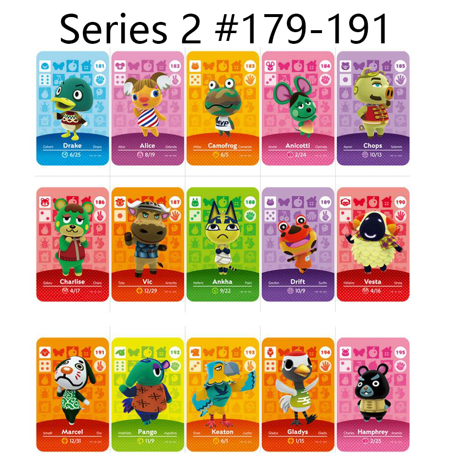 Series 2 (179 To 191) Animal Crossing Card Amiibo Locks Nfc Card Work For Switch NS Games Series 2 (179 To 191)