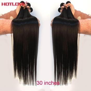 100% Human Hair Weave Bundles 8-40 Mixed Long Hair Peruvian Straight Hair 1/3/4 Bundles Natural Color Remy Hair Extensions image