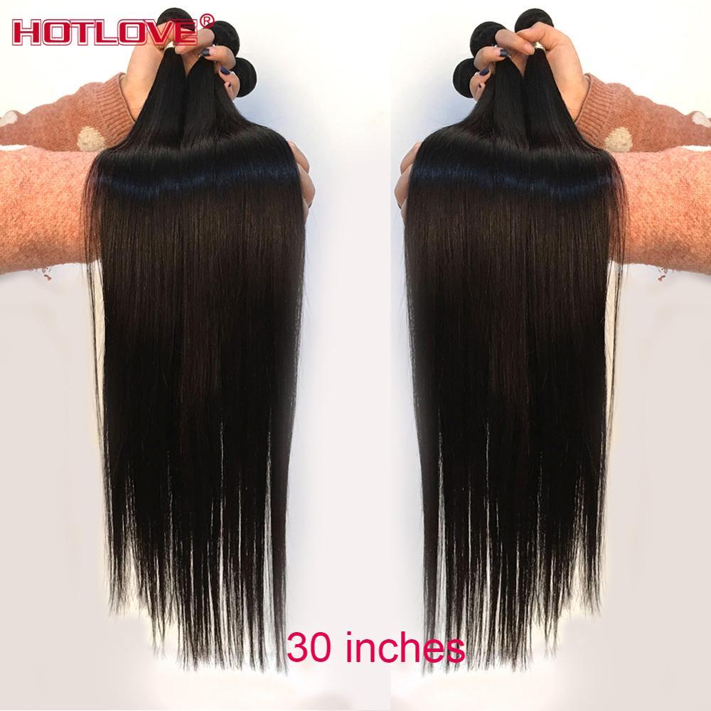 "Brazilian Straight Hair Weave Bundles 8-40"" Mixed Long Hair 100% Human Hair 1/3/4 Bundles Natural Color Remy Hair Extensions"