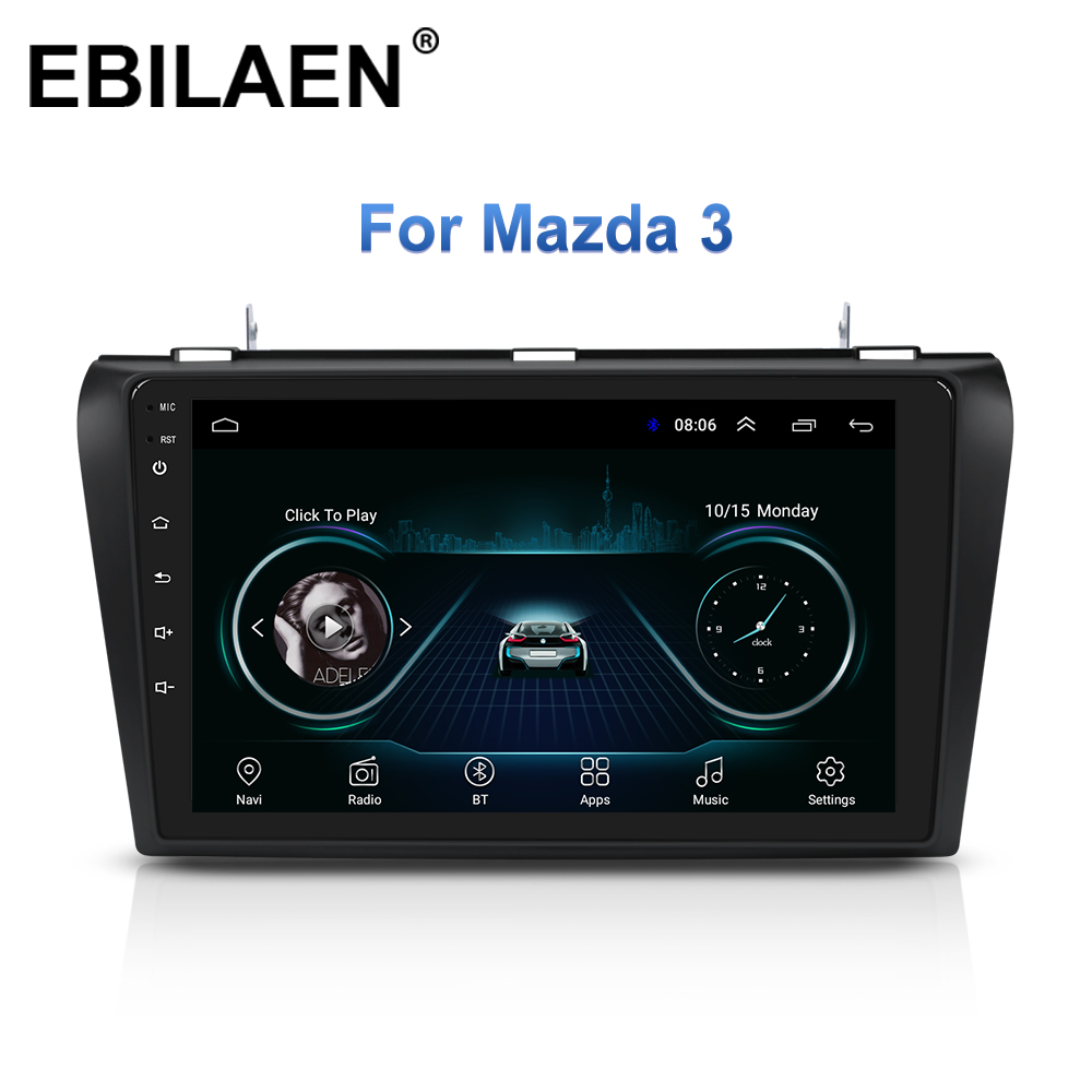 Car Multimedia <font><b>Radio</b></font> Player For <font><b>Mazda</b></font> <font><b>3</b></font> BK Mazda3 2004-<font><b>2009</b></font> Android 8.1 Navigation Autoradio Tape Recorder GPS Video Stereo image
