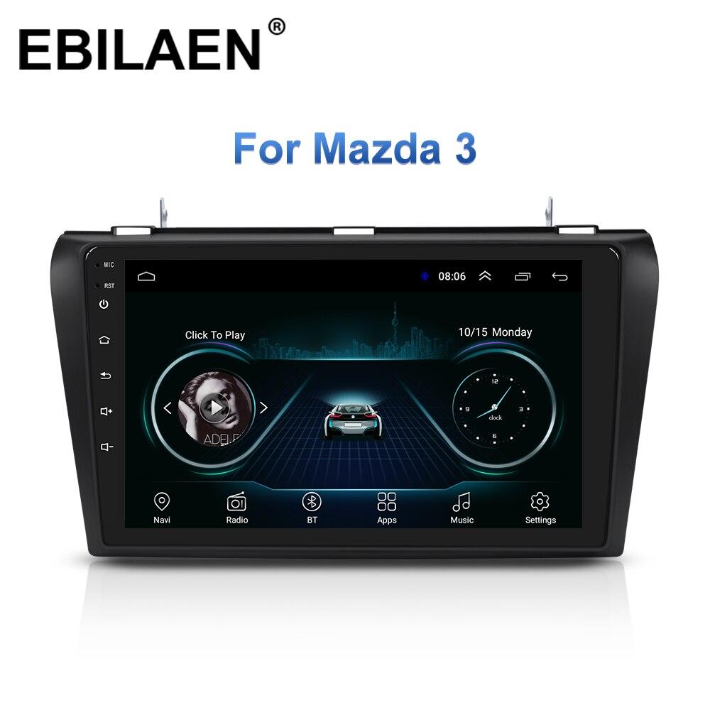 Lecteur de Radio multimédia de voiture pour Mazda 3 BK Mazda3 2004-2009 Android 8.1 Navigation Autoradio magnétophone GPS vidéo stéréo