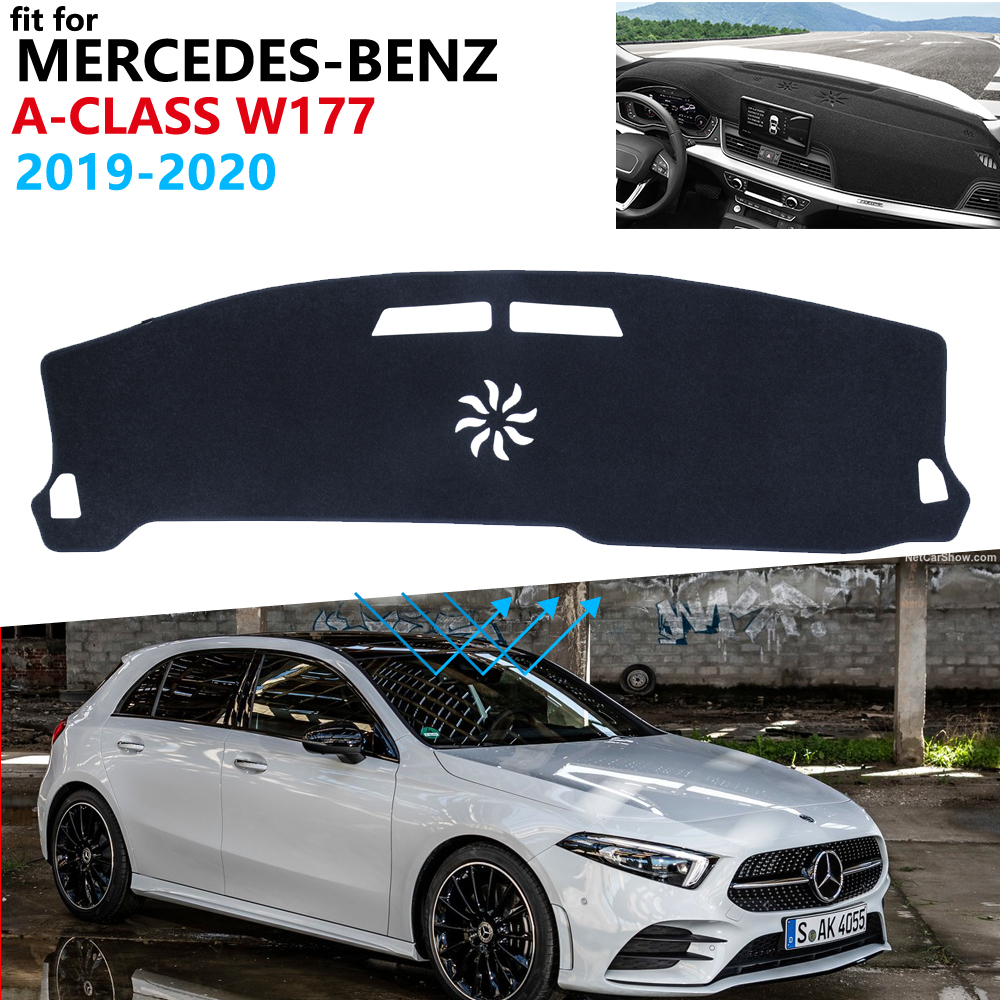 Dashboard Cover Protective Pad For Mercedes Benz A-Class W177 2019 2020 Car Accessories Carpet A-Klasse A160 A180 A200 A45