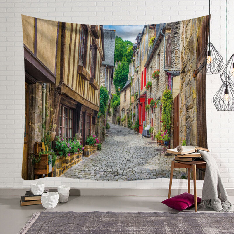 2019 Fashion Brand Newest Boho European Town Tapestry Wall Hanging Hippie Throw Blankets Mat Home Decor