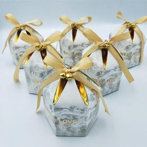 Image 3 - Gift Boxes Packaging Wedding Favors Chocolate Box Bomboniera Giveaways Boxes Party Supplies With Bells&Ribbons Paper Bags