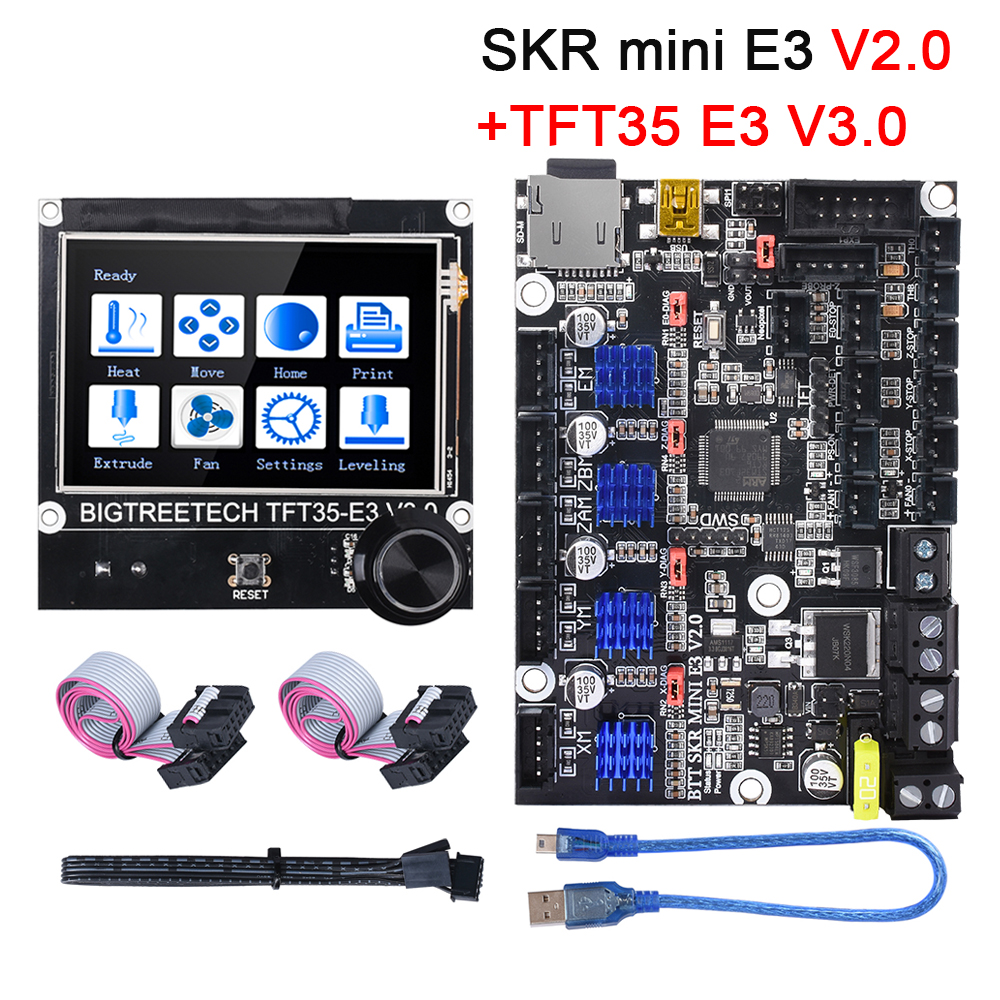 BIGTREETECH SKR Mini E3 V2.0 Control Board With TMC2209+TFT35 E3 Touch Screen 3D Printer Parts For Ender 3/5 Pro CR10 SKR V1.4
