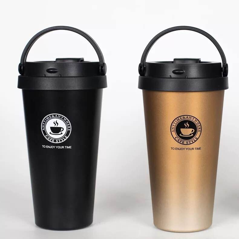 New Style Coffee Cup Double Layer 304 Stainless Steel Hand 2 Generation Insulated Cup Fashion Gift Customization Logo Water Cup|Sports Bottles| |  - title=