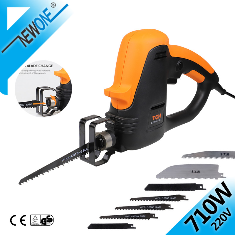 TCH 710W Jig Saw 220V Reciprocating Saw Electric AC Power Tools Hand Saber With Wood/Metal/Plastic Saw Blade Accessories