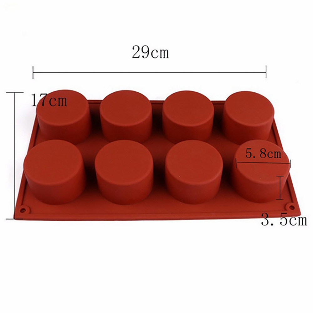 Image 3 - Silicone Mold For Cake Pastry Baking Round Jelly Pudding Soap Form Ice Cake Decoration Tool Disc Bread Biscuit Mould #15-in Cake Molds from Home & Garden