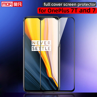 screen protector for oneplus 7t OnePlus 7 tempered glass full cover 2.5D ultra thin One Plus 7T edge-to-edge coverage film mofi