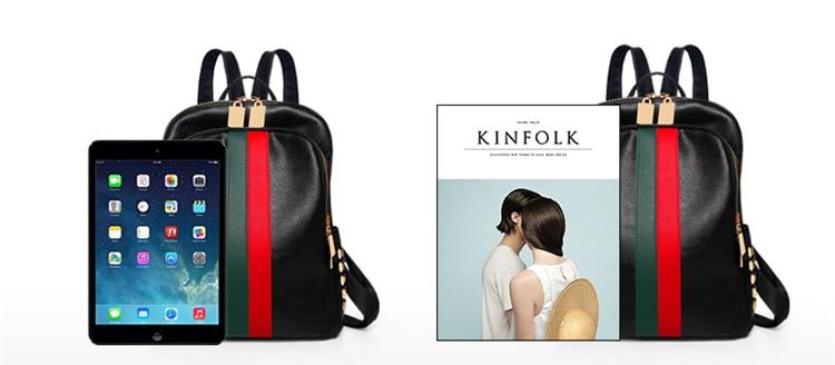 Hc71c64a272524695ab1064852e0aeb6bv Luxury Famous Brand Designer Women PU Leather Backpack Female Casual Shoulders Bag Teenager School Bag Fashion Women's Bags