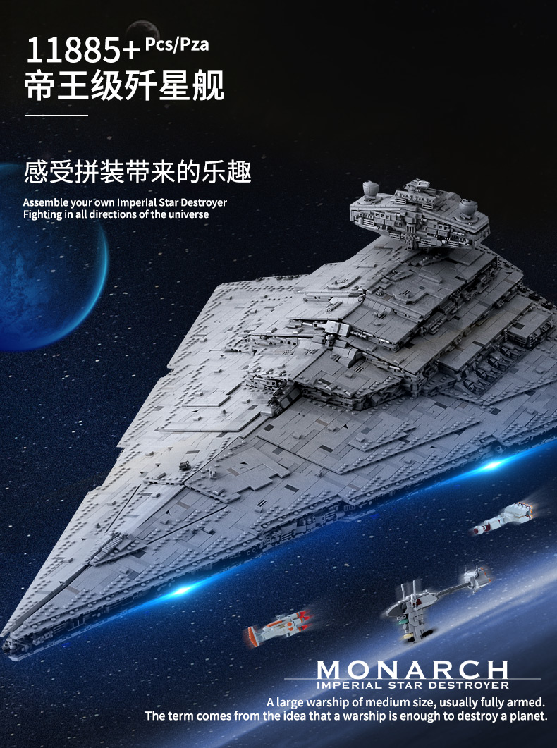 05027 Star Toys Wars The MOC-23556 Imperial Star Destroyer Compatible With Legoing 75252 Kids Christmas Gifts Building Blocks 11