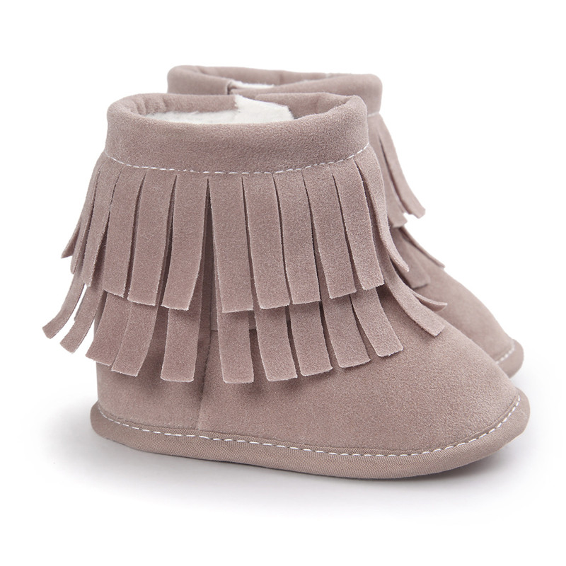 2019 Infant Baby Girl Tassels Boots Winter Warm Soft Sole Shoes Snow Boots Prewalkers