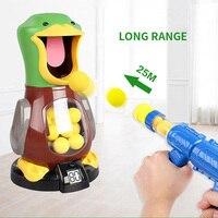 2020 Children s Soft Foam Ball Gun Shooting Game Toys Indoor Scoring Safety Shooting Duck Kids