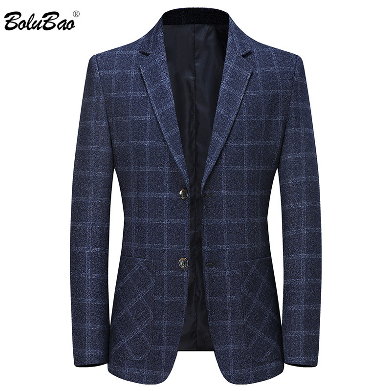 BOLUBAO Fashion Brand Men Casual Blazers Autumn New Men's Plaid Trend Suits Coats Business Wild Blazers Male 1