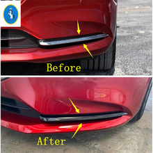 Yimaautotrims Auto Accessory Front Fog Lights Lamp Eyelid Eyebrow Panel Cover Trim Fit For Mazda 6 2019 2020 ABS Carbon Fiber yimaautotrims auto accessory front fog lights lamp eyelid eyebrow cover trim fit for ford mondeo fusion 2017 2018