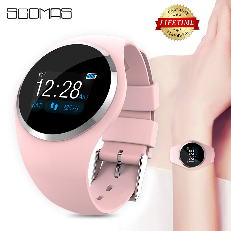 SCOMAS Upgraded Fashion Smart Watch Heart Rate Blood Pressure Monitor Women Physiological Reminder Smartwatch For Android IOS|Smart Watches| |  - AliExpress